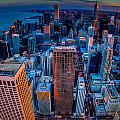 Chicago Sunset Glow by Raf Winterpacht