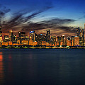 Chicago Sunset by Kevin  Whitworth