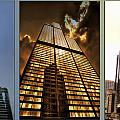 Chicago Tall Shoulders Trump Sears 333 W Wacker Triptych 3 Panel 01 by Thomas Woolworth