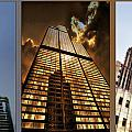 Chicago Tall Shoulders Trump Sears Tribune Triptych 3 Panel 01 by Thomas Woolworth