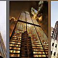 Chicago Tall Shoulders Trump Sears Tribune Triptych 3 Panel 02 by Thomas Woolworth