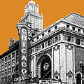 Chicago Theater - Dark Orange by DB Artist