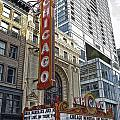 Chicago Theater Facade Northside by Thomas Woolworth