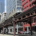 Chicago Train On The L Track by Anita Burgermeister