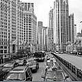 Chicago Triptych 3 Panel Black And White by Thomas Woolworth