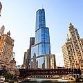 Chicago Trump Tower At Michigan Avenue Bridge by Paul Velgos