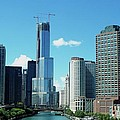 Chicago Trump Tower Under Construction by Thomas Woolworth