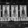 Chicago United Center Banners Bw by Thomas Woolworth