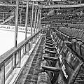 Chicago United Center Before The Gates Open Blackhawk Seat One Bw Hdr by Thomas Woolworth