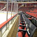 Chicago United Center Before The Gates Open Blackhawk Seat One by Thomas Woolworth
