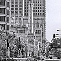 Chicago Water Tower Beacon Black And White by Christopher Arndt
