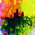 Chicago Watercolor Skyline by Naxart Studio
