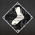 Chicago White Sox Baseball Vintage Logo License Plate Art by Design Turnpike