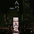 Chicago's Crown Fountain At Night by Christine Till