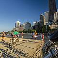 Chicago's Lakefront Bike Path On A Summer Evening by Sven Brogren