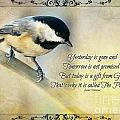 Chickadee With Inspiration by Debbie Portwood