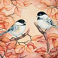 Chickadees by Inese Poga