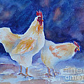 Chicken Duo by Carolyn Jarvis