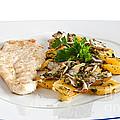 Chicken Escalope With Potatoes And Mushroom by Antonio Scarpi