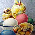 Chicks And Eggs by Munir Alawi