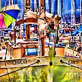 Chico Sail Boat By Diana Sainz by Diana Raquel Sainz