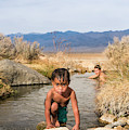 Child And Mother Playing In Hot Springs by Josh Miller Photography