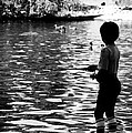 Child Fishing by Karl Rose