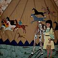 Child With Pony by Linda Egland