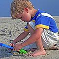 Childhood Beach Play by Marie Hicks