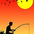 Childhood Dreams 3 Fishing by John Edwards