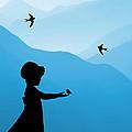 Childhood Dreams 5 Feeding Time by John Edwards