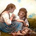 Childhood Idyllic By Bouguereau by Maria Leah Comillas