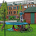 Children At Play In Enkhuizen-netherlands by Ruth Hager