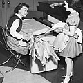 Children Doing Housework by Underwood Archives