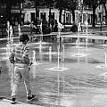 Children Play By Fountain by Jimmy Karlsson