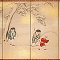 Children Playing In Summer And Winter by Maruyama Oshin