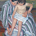 Child's Bath 1893 by  Mary Stevenson Cassatt