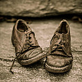 Child's Old Leather Shoes by Edward Fielding