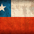Chile Flag Vintage Distressed Finish by Design Turnpike