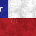 Chile Flag by World Art Prints And Designs