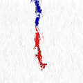Chile Painted Flag Map by Antony McAulay