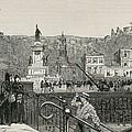 Chile. Valpara�so. Square In 1891 by Everett