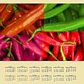Chili Pepper 2014 Calendar by Bruce Nutting