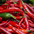 Chili Peppers At The Market by Heather Applegate