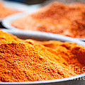 Chili Powder At Local Street Market In Dunhuang China by Matteo Colombo