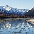 Chilkat River Freeze Up by Michele Cornelius