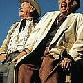 Chill Wills And Andy Devine Singing Atop A Stagecoach Old Tucson Arizona 1971 by David Lee Guss