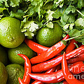 Chillies And Limes by Rick Piper Photography