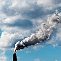 Chimney Exhaust Waste Amount Of Co2 Into The Atmosphere by Ulrich Schade
