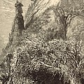 Chimney Rock At Hickory-nut Gap 1872 Engraving by Antique Engravings